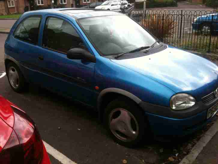 1997 vauxhall corsa sting blue 1l car for sale. Black Bedroom Furniture Sets. Home Design Ideas