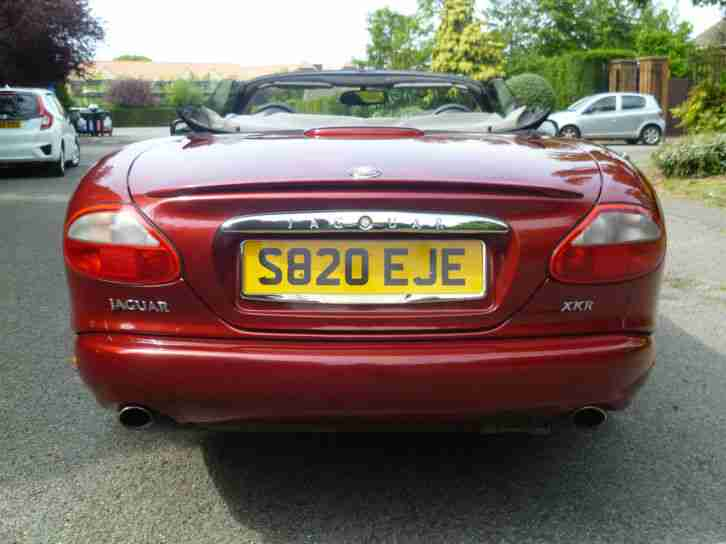 1998 Jaguar XKR Convertible 4.0 Supercharged auto. 69,000 Miles.