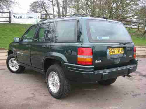 1998 Jeep Grand Cherokee Estate 3960cc Petrol limited auto service history