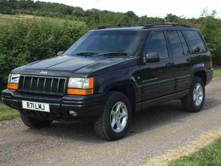 jeep 1998 grand cherokee orvis 4 litre black leather spares or car for sale. Black Bedroom Furniture Sets. Home Design Ideas