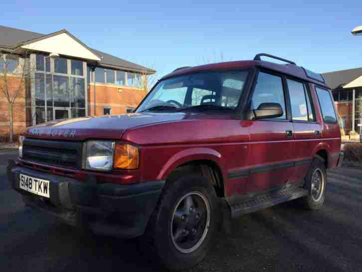 LAND ROVER DISCOVERY TDI S 7 SEATER RIOJA RED, NO RESERVE