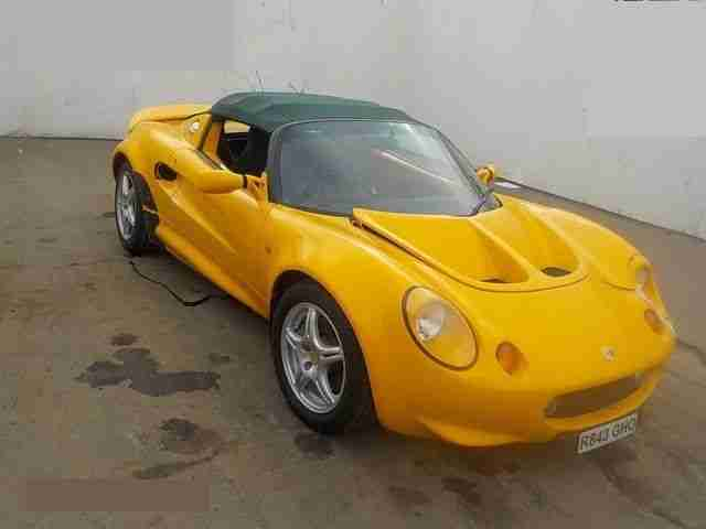 1998 LOTUS ELISE YELLOW SALVAGE EASY EASY FIX