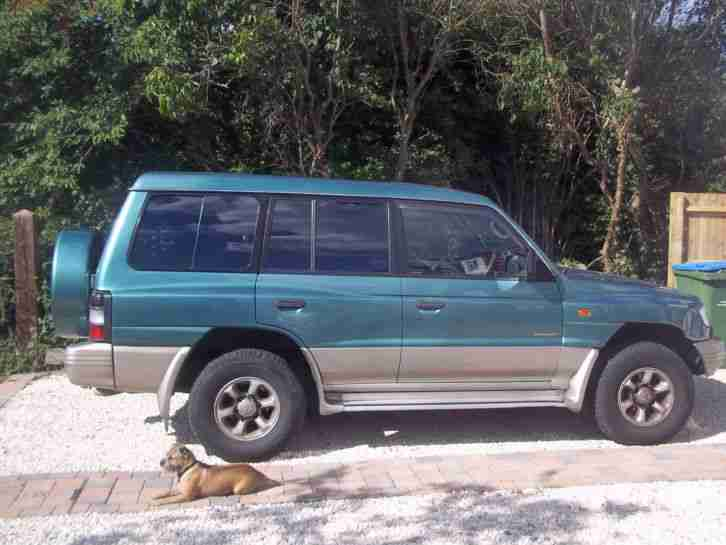 mitsubishi 1998 shogun gls v6 lwb auto green car for sale