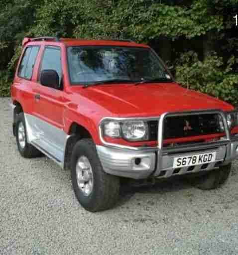 1998 SHOGUN GLS V6 SWB AUTO RED