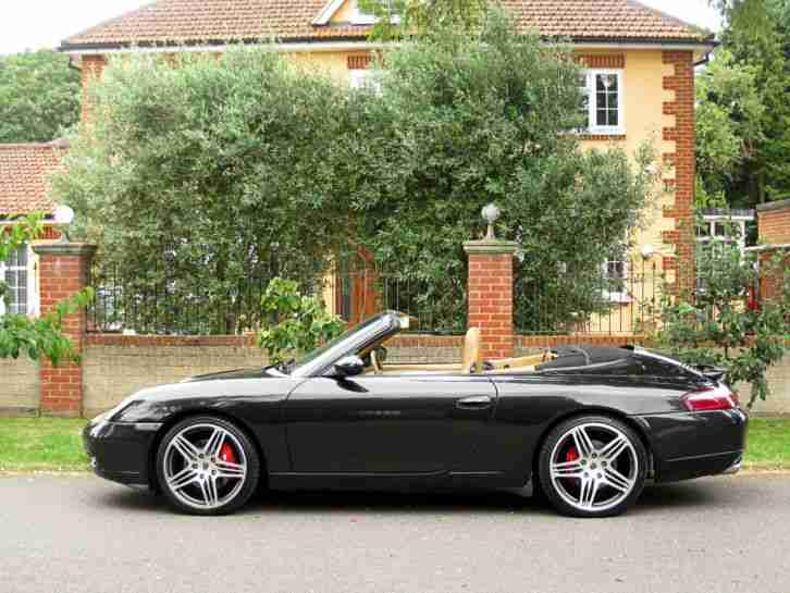 1998 PORSCHE 911 CARERRA 4 CONVERTIBLE AUTO 88K MILES BIG ALLOYS HARD TOP LOVELY