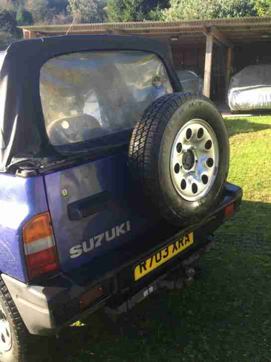 1998 'R' SUZUKI VITARA JX SPORT - BLUE / PURPLE - 85k - MOT END SEP 16 - SOFTTOP
