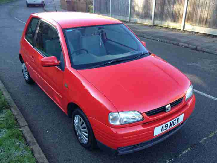 seat 1998 arosa 1 0 mpi red car for sale. Black Bedroom Furniture Sets. Home Design Ideas