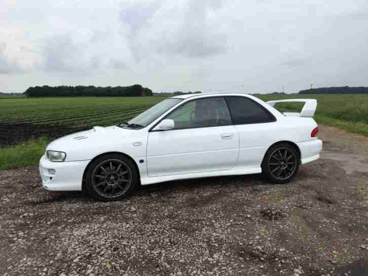 subaru 1998 impreza wrx sti type r version 5 white car for sale. Black Bedroom Furniture Sets. Home Design Ideas