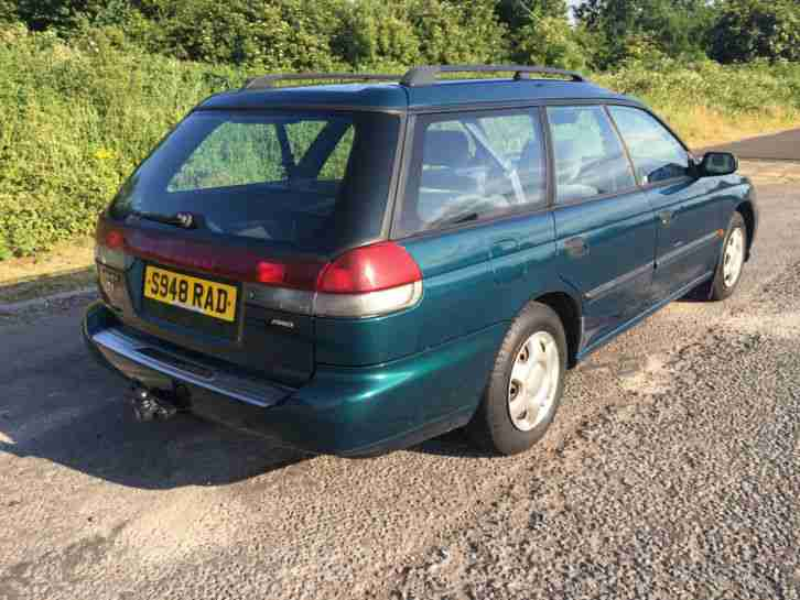 1998 SUBARU LEGACY 2.0 AWD 4X4 ESTATE, GREEN, 2 OWNERS, HISTORY,TOW BAR, NEW MOT