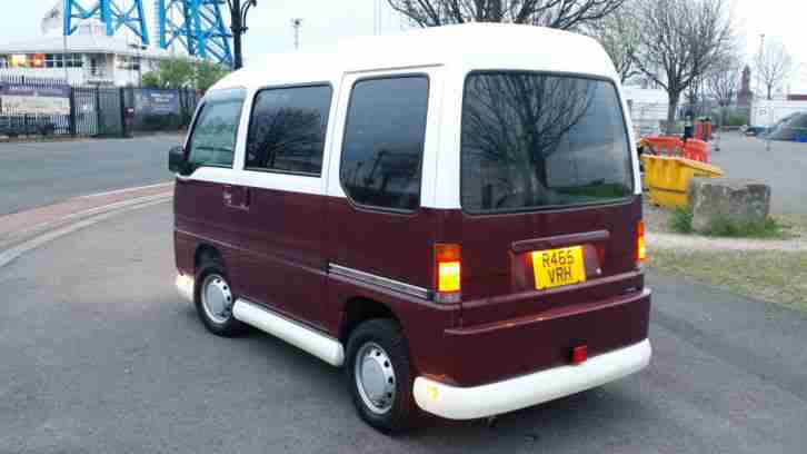 1998 SUBARU SAMBAR VAN RED/WHITE - MINI RETRO VW CAMPER LOOKALIKE - FROM JAPAN