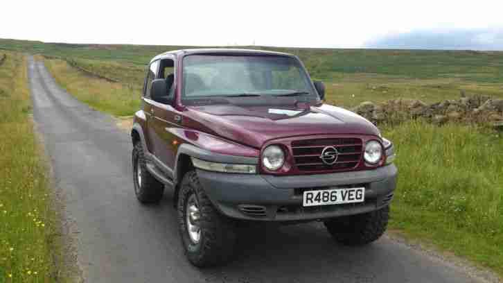 ssangyong 1998 korando gls maroon car for sale. Black Bedroom Furniture Sets. Home Design Ideas