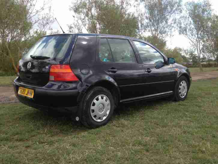 1998 VOLKSWAGEN GOLF SE AUTO BLACK/years mot/not gti/small automatic /