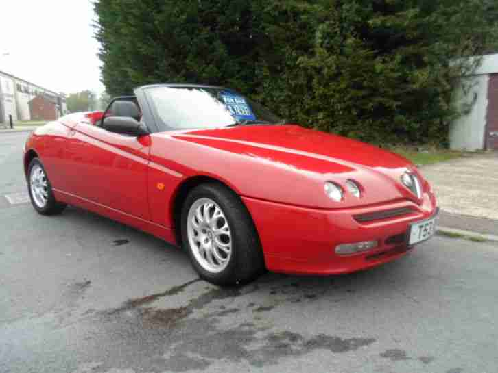1999 ALFA ROMEO SPIDER CONVERTIBLE SPORTS IN ITALIAN RED