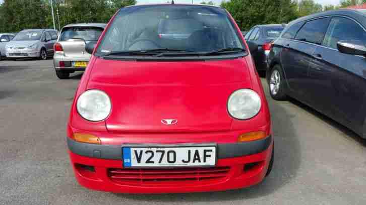 Daewoo 1999 Matiz 0.8 SE+ 66557 miles Low insurance group. car for
