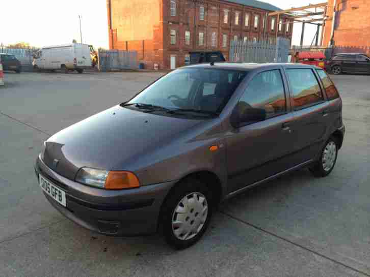 Fiat 1999 Punto Sx 60 Grey 72000 Miles 10 Months Mot