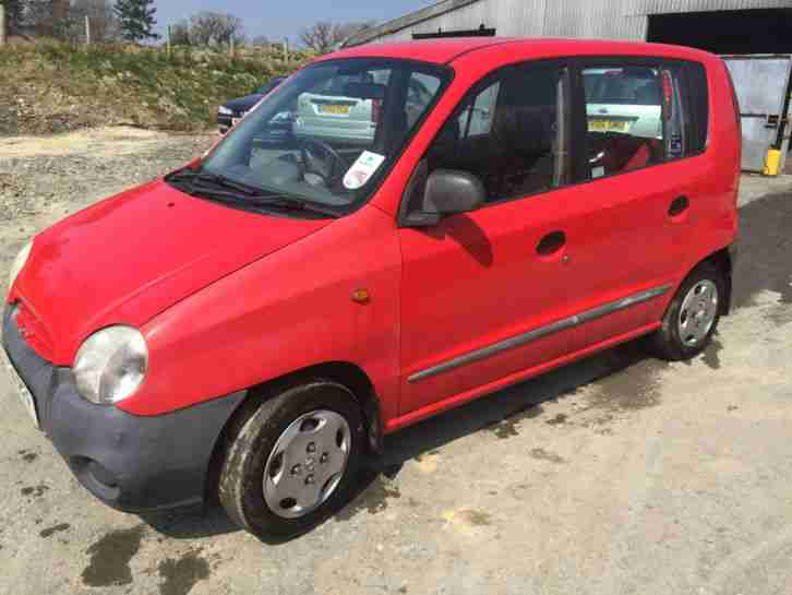 1999 HYUNDAI ATOZ RED,68000 MILES,VERY CLEAN,SPARES OR REPAIR
