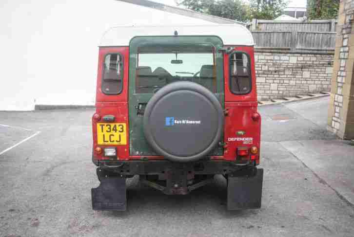 1999 LAND ROVER DEFENDER 90 TD5 RED Farm Spec 300tdi 200 tdi Panel Van 110
