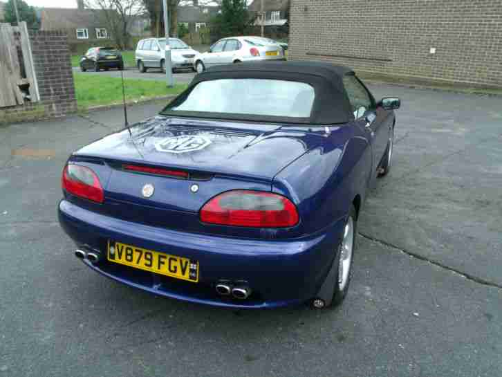 1999 MG MGF BLUE Rover MG MGF ConvertibleTahiti blue metalic 2 seater sports