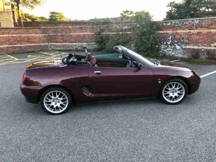 1999 Mgf 75th Anniversary Service History Very Low Mileage Not Mg Tf PRISTINE