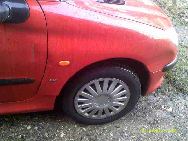 1999 PEUGEOT 206 LX RED 1124cc Slightly Damaged