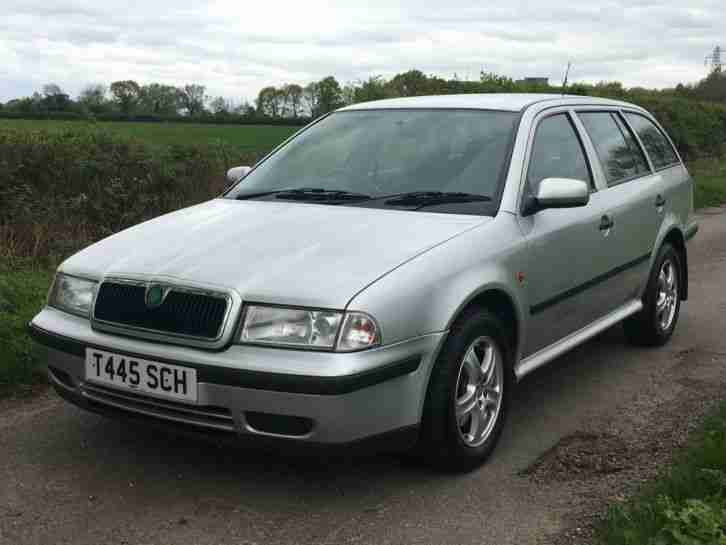 1999 SKODA OCTAVIA COMBI SILVER 12M MOT JUST SERVICED ESTATE DIESEL HPI CLEAR
