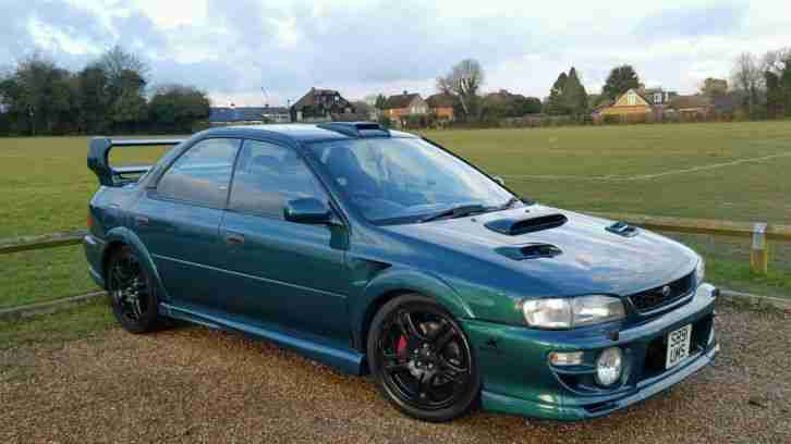 subaru 1999 impreza turbo 2000 awd green wide arch kit custom car for sale. Black Bedroom Furniture Sets. Home Design Ideas