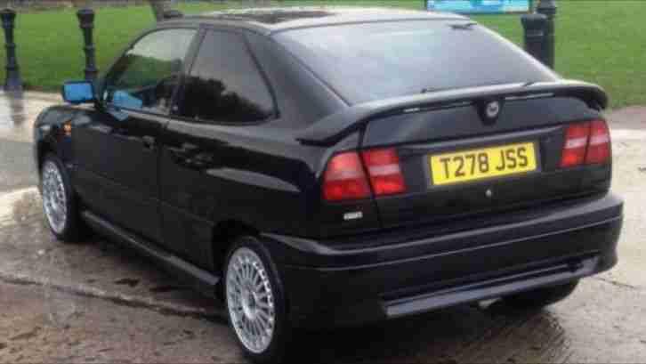 lancia 1999 (t) delta hpe 2.0 turbo 5 speed manual 3 door black. car
