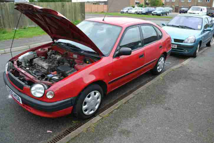 Toyota 1999 Corolla 16v Red Car For Sale