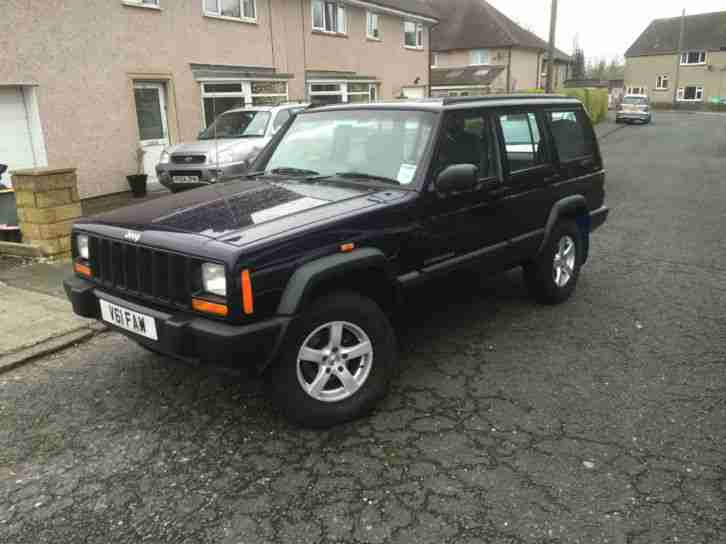 1999 V JEEP CHEROKEE 2.5TD SPORT,ADDED ALLOYS WITH 4 X 4 TYRES AND TOWBAR.