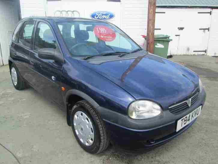 vauxhall 1999 corsa club 1 2 16v blue 5 door car for sale. Black Bedroom Furniture Sets. Home Design Ideas