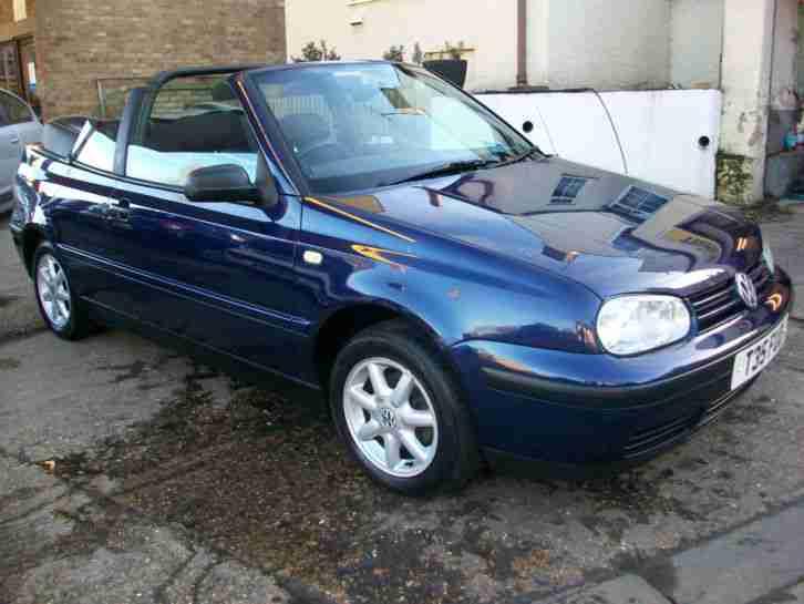 volkswagen 1999 golf cabriolet se blue manual convertible car for sale. Black Bedroom Furniture Sets. Home Design Ideas