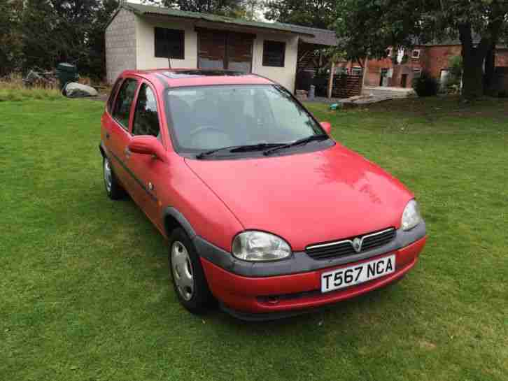 1999 vauxhall corsa 1 2 16v club px to clear car for sale. Black Bedroom Furniture Sets. Home Design Ideas