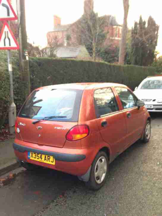 2000 DAEWOO MATIZ SE ORANGE - Great condition - Serviced