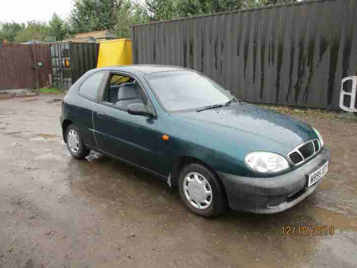 2000 Daewoo Lanos 1.4 S Petrol Manual 3 Door Hatchback Green Low Mileage