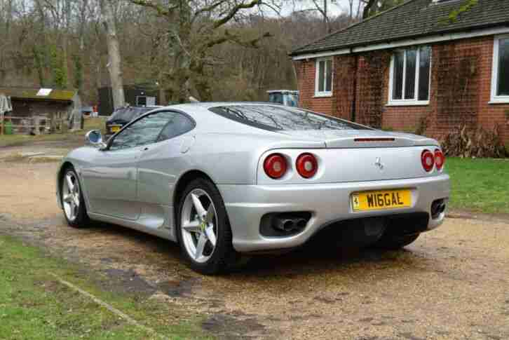 2000 FERRARI 360 MODENA F1 FULL SERVICE HISTORY JUST SERVICED + NEW CAMBELT