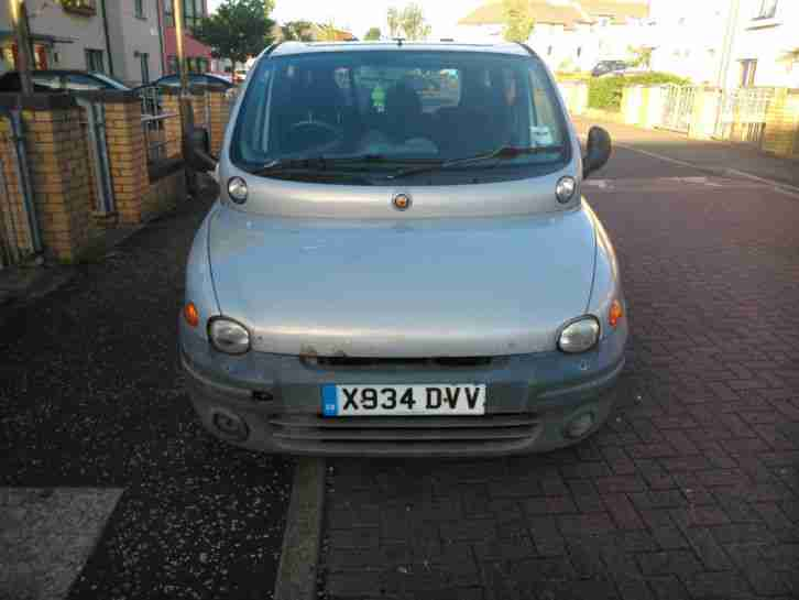 fiat 2000 multipla 110 elx jtd silver car for sale. Black Bedroom Furniture Sets. Home Design Ideas