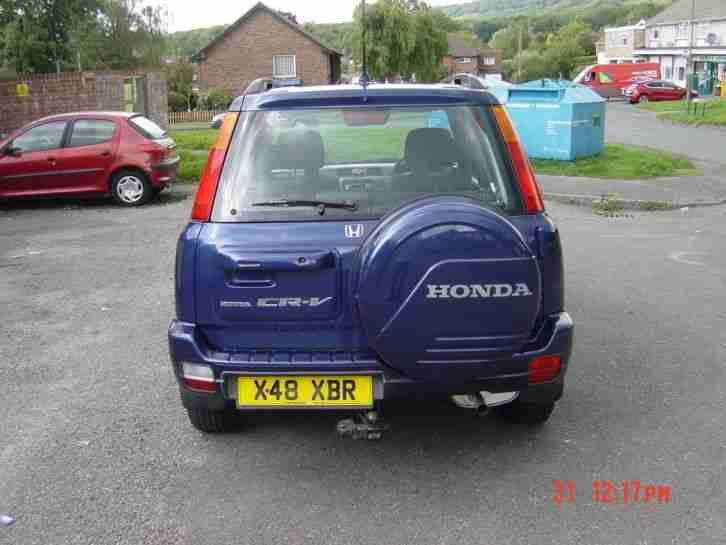 2000 HONDA CRV 2.0 ES MANUAL NEW MOT PART EX TO CLEAR 138K SERVICE HSTORY