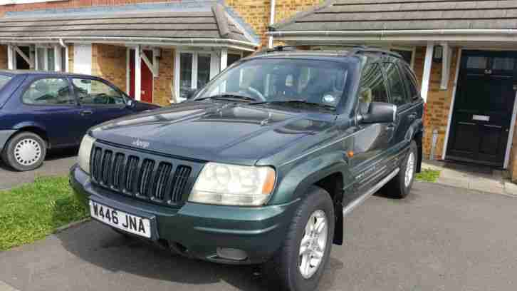 2000 GRAND CHEROKEE LIMITED GREEN LPG