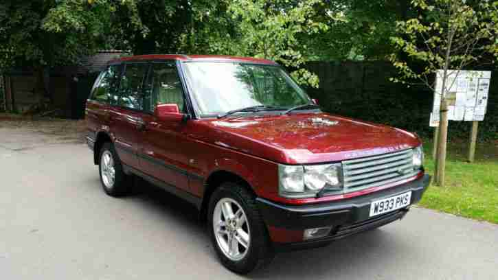 2000 land rover rangerover 4 0 se auto red stunning very low milage. Black Bedroom Furniture Sets. Home Design Ideas