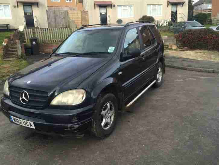 2000 mercedes ml 320 auto black 7 seater spares or repairs. Black Bedroom Furniture Sets. Home Design Ideas