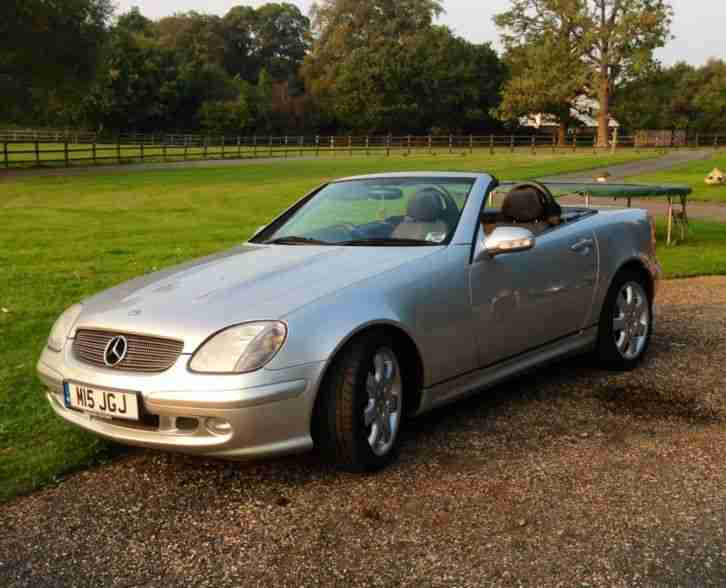 2000 mercedes slk 320 auto silver only 44 39 000 miles car for sale. Black Bedroom Furniture Sets. Home Design Ideas