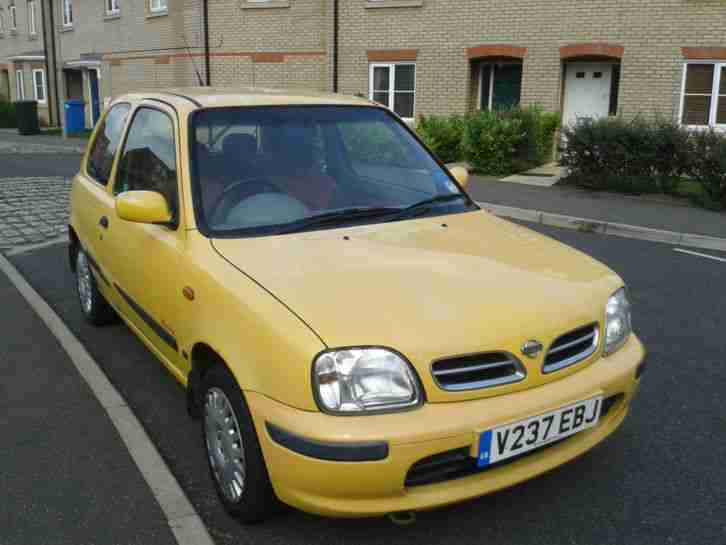 nissan 2000 micra inspiration 16v yellow ac car for sale. Black Bedroom Furniture Sets. Home Design Ideas