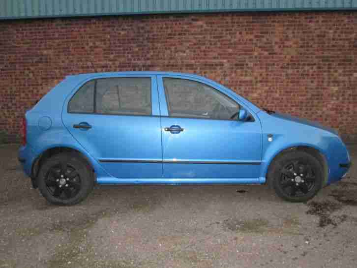 Skoda 2000 Fabia Comfort 8v Blue Fsh Car For Sale
