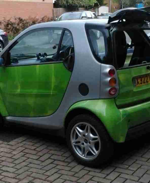 smart 2000 fortwo car green low mileage 56 000 miles semi auto car for sale. Black Bedroom Furniture Sets. Home Design Ideas