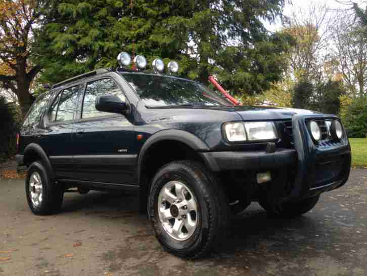 2000 vauxhall frontera limited blue 4x4 awd off roader winter ready cb. Black Bedroom Furniture Sets. Home Design Ideas