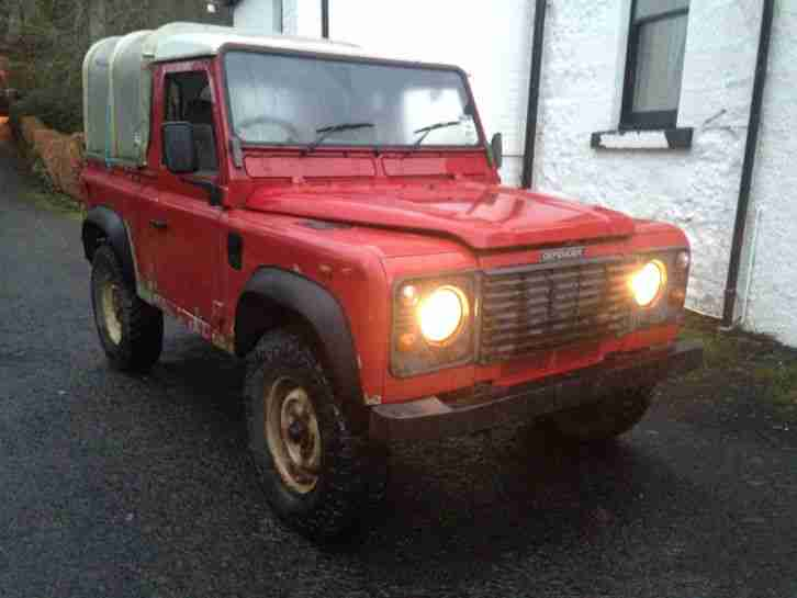 2001 51 LAND ROVER DEFENDER 90 TD5 RED TRUCK CAB