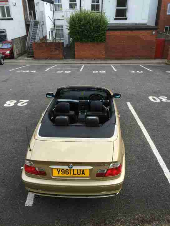 2001 BMW 330CI AUTO GOLD CONVERTIBLE - NO RESERVE Apr15 MOT Dec14 Tax