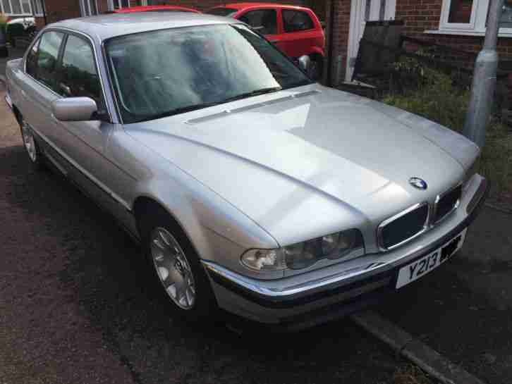 bmw 2001 728i e38 facelift auto silver lpg gas spares or repair with. Black Bedroom Furniture Sets. Home Design Ideas