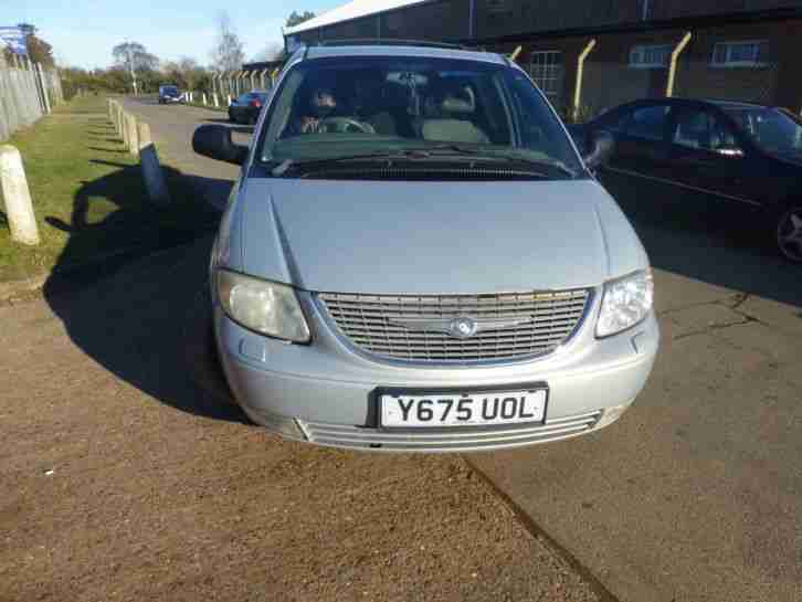 2001 CHRYSLER GRAND VOYAGER CRD LIMITED SILVER DISMANTLING FOR SPARES.