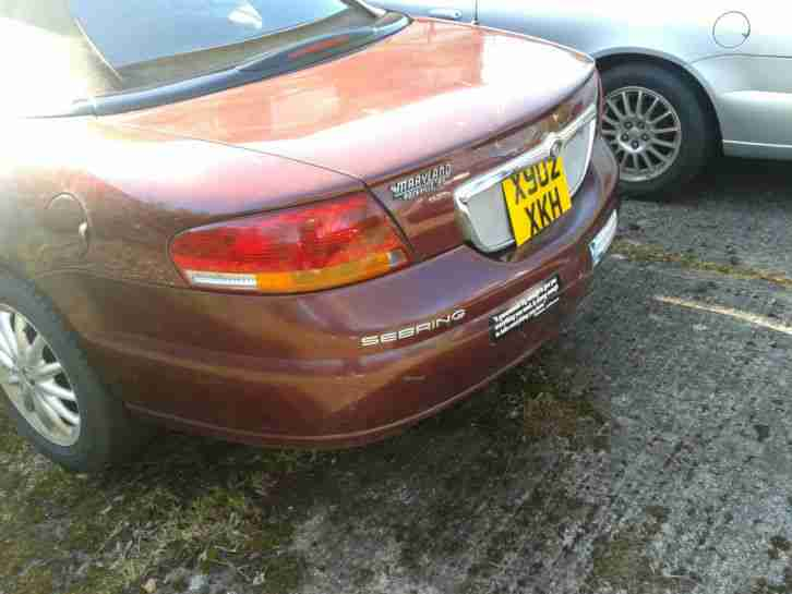 chrysler 2001 sebring cabrio lhd mot 2 7 auto power hood a c car for sale. Black Bedroom Furniture Sets. Home Design Ideas